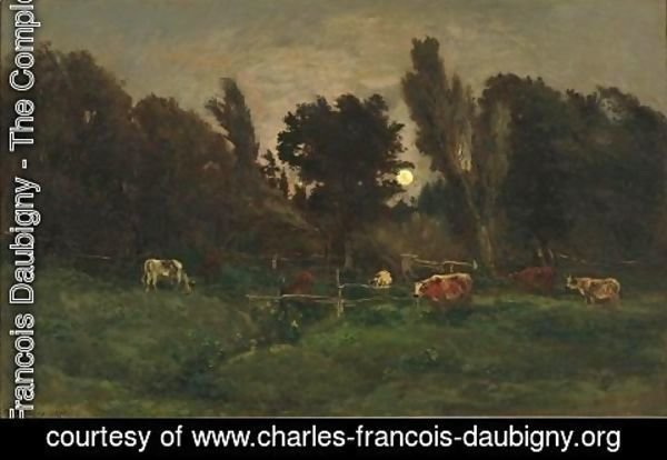Charles-Francois Daubigny - The meadow of graves in Villerville