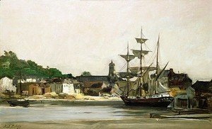 Charles-Francois Daubigny - The Harbour at Honfleur