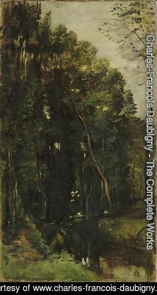 Charles-Francois Daubigny - The woods and creek