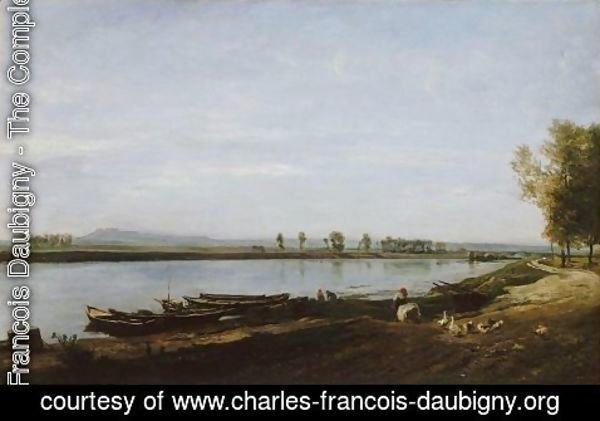 Charles-Francois Daubigny - The Seine in Bezons, Val d'Oise